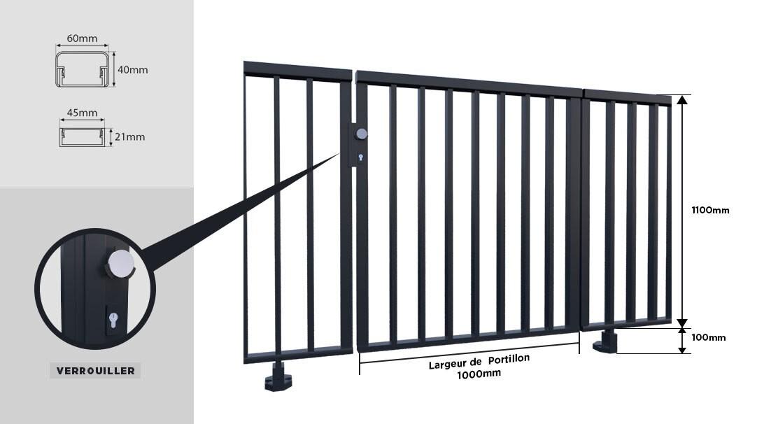 barrière de piscine, garde corps de piscine